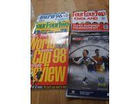 Selection vintage football magazines