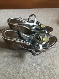 Dorothy Perkins wedge sandals, size 7