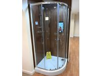 Shower tray and glass surrounding and door 900mm-900mm brand new