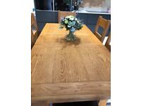 OakDining table, 6 chairs and sideboard. Excellent condition solid oak