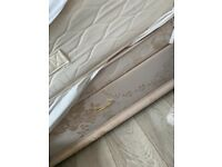 Double divan bed with 4 drawers head board and mattress
