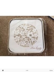 M and S Wedding Guest book