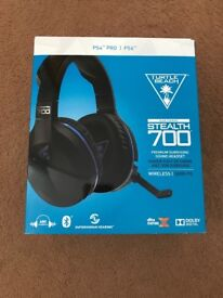 Turtle Beach ear force stealth 700 PS4 wireless headset. Only used once. RRP £129.99