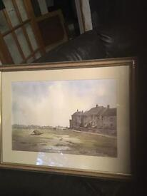 Duncan Russell watercolour signed and dated