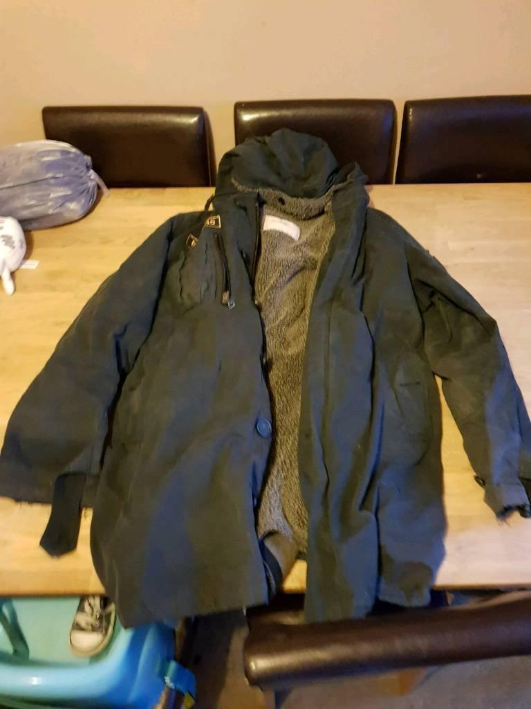 Well Used Thomas Burberry jacket coat large