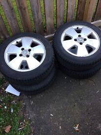 "Brand new tyres on Vauxhall rims 15"""