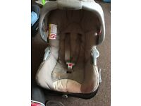 Graco car seat and base
