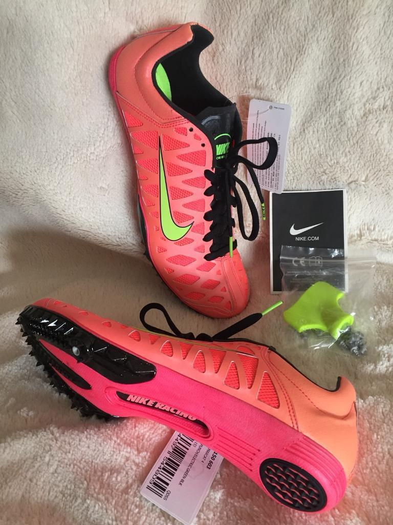 Brand New NIKE 'Zoom Maxcat 4' Running Spikes Trainers Size UK8-9. With spike key. GENUINE!
