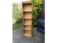 Solid Wood Bookcase Tall & Slim