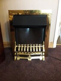 Electric fire two speeds flame effect