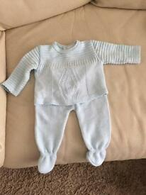 Baby boys knitted suit