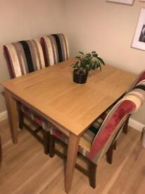 Immaculate oak dining table ex John Lewis