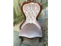 Antique style bedroom chair