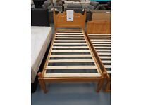 Brand New Single Wooden Bed Frame. Already Built And Can Deliver