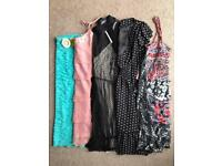 5 DRESSES - SIZE 8 AND SIZE 10 - 3 DRESSES BRAND NEW