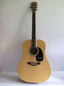 Guitar Acoustic Westfield B200 Full Size Dreadnought Natural