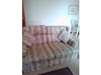 Patterened sofa bed bed settee m and s
