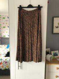 Oasis size 12 animal print maxi skirt