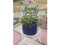 Chair stand with flower pot