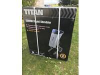 New in box Titan 2500w Garden shredder.