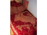 Wedding bride or party lengha fishtail skirt and corset