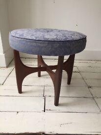 Vintage Gplan g plan Astro 1960s Fresco stool footstool teak