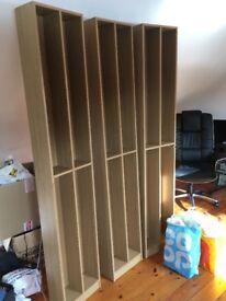 3 X Tall CD/DVD storage units