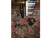 XBOX 360 ELITE (250GB) BUNDLE W/ CONTROLLERS AND 28 GAMES