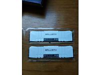 Crucial Ballistix 16GB (8GBx2) 3600MHz CL16 RAM