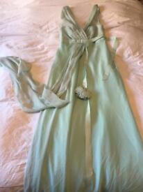 BNWT Pastel green Monsoon formal prom dress. Size 8