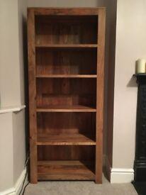 2 Mango Wood Bookshelves (oak furniture land originals)