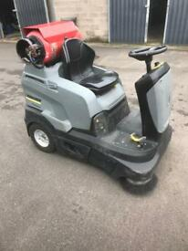 Ride on Karcher sweeper