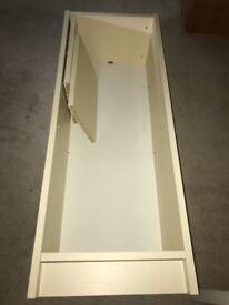 Ikea cream shelving unit