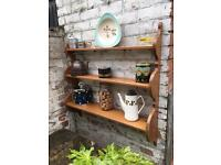 very pretty Vintage wooden 3 tier kitchen shelf,