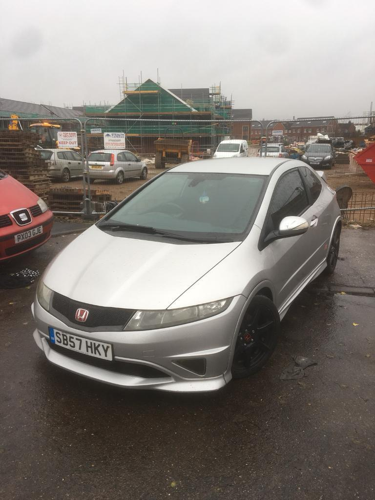 honda civic type r 2007 fn2 silver 138k in leicester. Black Bedroom Furniture Sets. Home Design Ideas