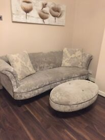 DFS sofas 4+2 and footstool