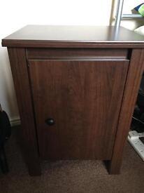 Ikea dark wood bedside cabinet