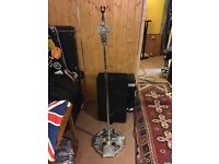 Mic stand, 'Celtic/ Gothic' themed chrome microphone stand...