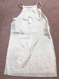 White BCB Generation Pleather Dress NEW WITH TAGS Purchased in New York @ $78