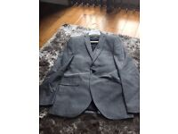 Mens tailored waiscoat and matching suit jacket, 38Slim Fit