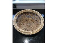 Wicker basket made with metal frame very strong