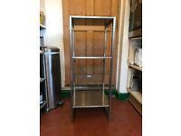 Stainless steel Ikea adjustable shelving unit