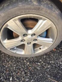 4 sets of vectra alloy wheels n tyres