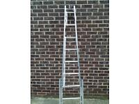 Aluminium Window Cleaner/Cleaning Ladders (7ft) telescopic legs & octopus feet £55 like new.