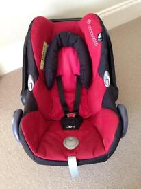 Used (good condition) Maxi Cosi Cabriolet car seat black/red