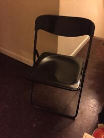 Free black plastic foldable chair