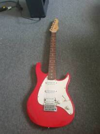 Peavey Raptor Electric Guitar - Red/White Junior Size