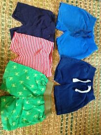 5 pairs of shorts 12-18 months, used but good condition 3 x Boots Mini Club 2 x Carters (US brand)