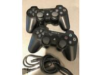 x2 PS3 Controllers with USB charger