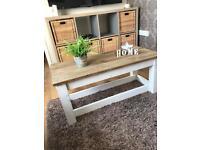 Rustic Farmhouse Style Coffee Table (White)